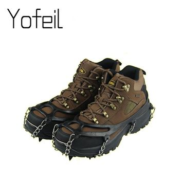 8 Teeth  Claw Traction Crampon Anti-Slip Ice Cleats Boots Tread Gripper Chain Spike Sharp Outdoor Snow Walking Climb Shoes Cover
