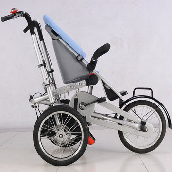 Hot Sell Baby and Mommy Bike Trolley 3 wheel Baby Boy Girls Pushchair Strollers Kids Foldable Strollers 2 in 1 Prams blue**