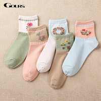Gours 2016 New Fall and Winter Womens Socks Casual Brand Long Cotton Socks Lot Sweet Kawaii Korean Socks for Women WS028