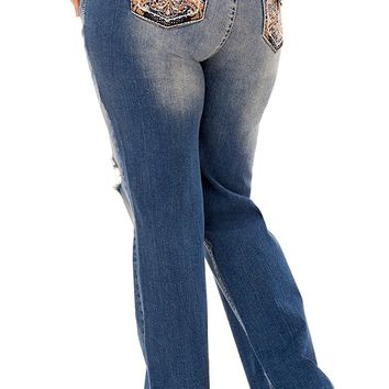 Plus Size Curvy Bling Bootcut Jeans