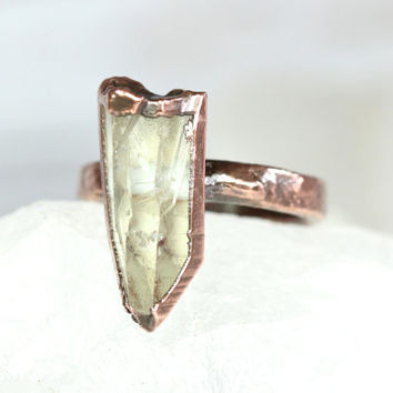 Raw Crystal Ring Quartz Crystal Ring Healing Crystal Ring Natural Crystal Raw Gemstone Quartz Crystal Quartz Ring Boho Ring Bohemian Jewelry