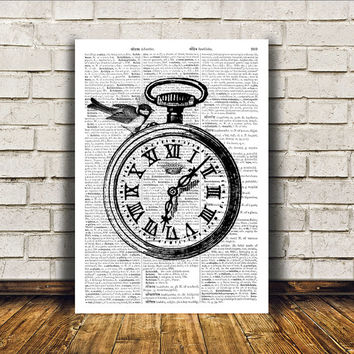 Vintage watch poster Retro print Modern decor Antique art RTA198