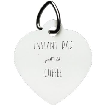 Funny Father's Day Gift For Dad From Wife, Daughter, Son, Stepdaughter, Stepson, Mom, Grandma, Mother In Law (7instantdad UN5770 Heart Pet Tag)