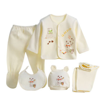 5pcs Baby Clothes Set 0-3 Months Newborn Baby Clothing Set  Baby Boy/Girl Clothes Cotton Cartoon Soft Baby sets