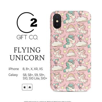 Flying Unicorn - Heavy Duty Shock Absorption Phone Case For Iphone X, Xr, Xs, Xs Max, 8, 8+ & Samsung Galaxy S10, S10+, S9, S9+, S8, S8+