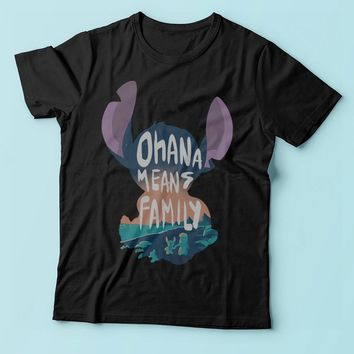 Lilo And Stitch Ohana Means Family Men'S T Shirt
