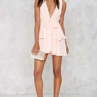 Dip It Low Tiered Dress