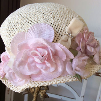 Hat-Baby Victorian Cottage Hat-Rosy