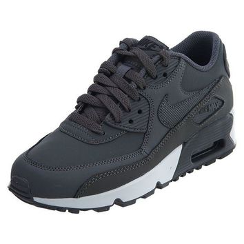 DCCKLG7 Nike Big Kids Air Max 90 Leather Running Shoes