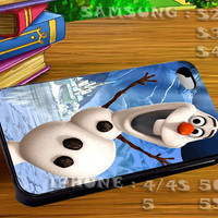 Snowman Olaf For iphone 4 iphone 5 samsung galaxy s4 / s3 / s2 Case Or Cover Phone.