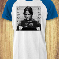 Mugshot Sam Winchester Supernatural Baseball Raglan Tee - zLi Unisex Tees For Man And Woman / T-Shirts / Custom T-Shirts / Tee / T-Shirt