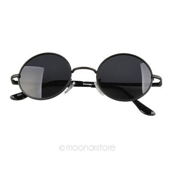 [Crazy Retro Vintage Hipster Celebrity Unisex Round Circle Arm Sunglasses Shades = 5988110081