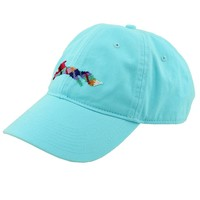 "Country Club Prep ""Longshanks"" Needlepoint Hat in Glacier Blue by Smathers & Branson"