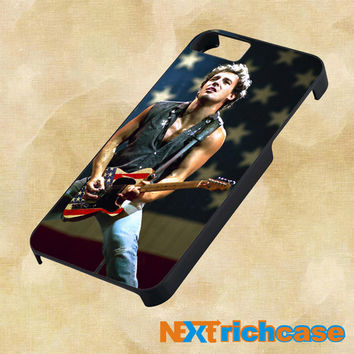 Bruce Springsteen American Flag For iPhone, iPod, iPad and Samsung Galaxy Case
