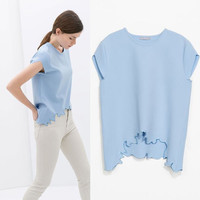 New Hot Fashion Womens Casual Blouse Short Foever21 Like Sleeve Shirt T shirt Summer Blouse Tops = 4720183684