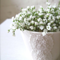 Lovely White Porcelain Lace Cup, Ceramic Lace Cup, Good for Mother's day gift-Hideminy Lace Series