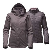 The North Face Mossbud Swirl Triclimate Jacket for Women in Rabbit Grey NF00CTM6-LJN