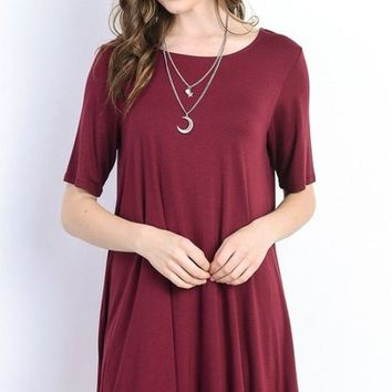 Simple Sophistication Tee Shirt Dress