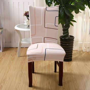 1 Pc Spandex Elastic Simple Style Chair Covers Removable Dustproof Stretch Wedding Dining Banquet Party Seat Cover Slipcover