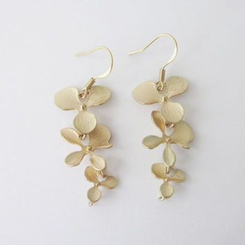 Wild Orchid Earrings, Orchids, Orchid Jewelry, Gift for Mom, Bridal Earrings, Bridal, Bridal Jewelry, Earing, Wedding, Bridesmaids,