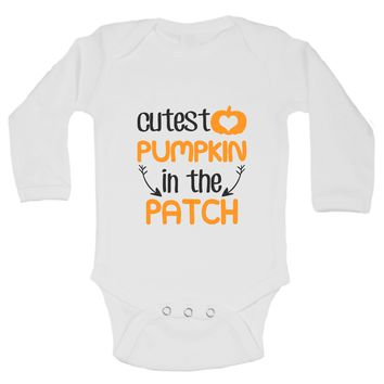 Christmas Onesuits -ξCutest PUMPKIN In The PATCH FUNNY KIDS Onesuit
