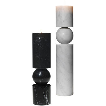 Fulcrum Candlestick: Marble - A+R Store