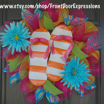 FlipFloppin' Fun by FrontDoorExpressions on Etsy
