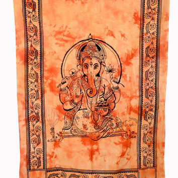 Lord Ganesha Tapestry, Tapestries , Bed cover,Bed Sheet, Throw,Tapestry Coverlet, Wall Hanging, Hippie Wall Hanging, Wall Decorative Art