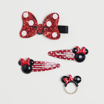 4-pack Accessories - Black/Minnie Mouse - Kids | H&M US