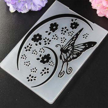 DIY Plastic Embossing Folder Curly Flower Template Scrapbooking Card Making Decoration Papercraft New Arrival