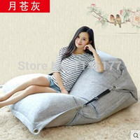 Pale gray month Beanbag beanbag chair folding simple cotton Double beanbag sofa ( filler included)bed tatami bed computer