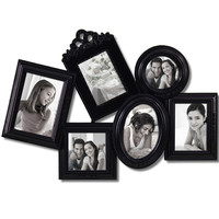 Decorative Black Polyresin Detailed Wall Collage Picture Photo Frame