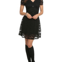 Royal Bones Black Lace Dress