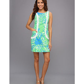 Lilly Pulitzer Liz Shift Dress Limeade Roar Of The Jungle - Zappos.com Free Shipping BOTH Ways