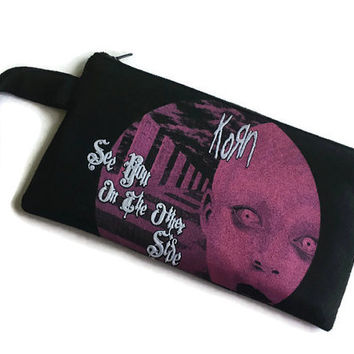 Korn Bag See You on the Other Side Clutch Recycled T-shirt Purse