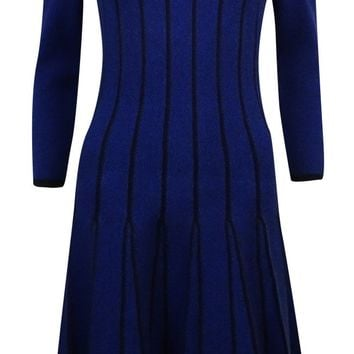 Lauren Ralph Lauren Women's Pleated Flare Sweater Dress