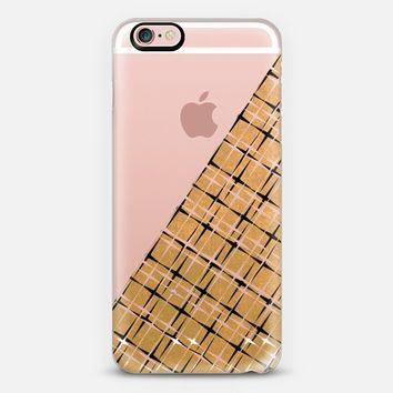 SPARKLE AND SHINE Glam Solid Warm Gold Color Yellow Metallic Shimmer Black White Stars Angle Pattern Design Modern Chic Trendy Ebi Emporium Festive Holiday Cool Colorful New Years Style iPhone 6s case by Ebi Emporium | Casetify