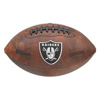 Wilson Oakland Raiders Throwback Football (Brown)