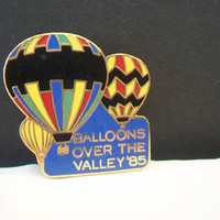 Balloons Over The Valley 85 Lapel Pin Hot Air Balloons Tie Tack Souvenir Unisex Accessories
