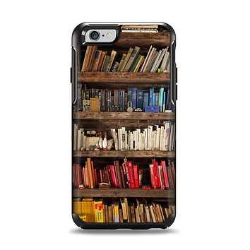 The Vintage Bookcase V1 Apple iPhone 6 Otterbox Symmetry Case Skin Set