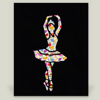 Dancing with flowers Art Print by Design4uStudio on BoomBoomPrints