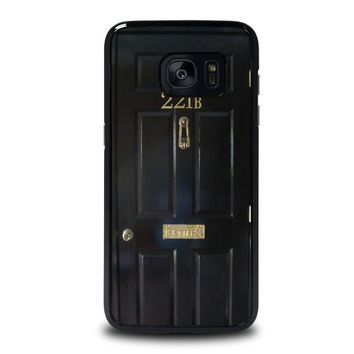 the door of sherlock holmes samsung galaxy s7 edge case cover  number 1