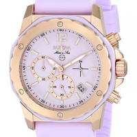 Bulova Women's Marine Star 98M118 Purple Silicone Quartz Watch