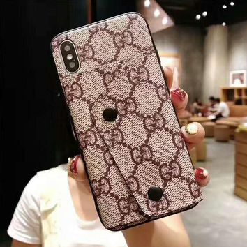 LV Louis Vuitton GUCCI Hot Sale Women Men Mobile Phone Cover Case For iphone 6 6s 6plus 6s-plus 7 7plus 8 8plus X XsMax XR