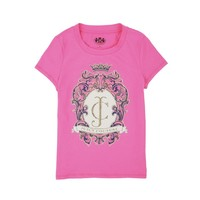 Fragrant Rose Girls Logo Ornate Cameo Tee by Juicy Couture,
