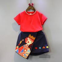 Girl's Shirt +Skirt Newest and Comfortable Style High Waist