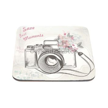 Save the Best Moments Floral Camera Art Computer Mousepad - SC328