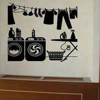 The Laundry Room quote wall sticker quote decal wall art decor 6145