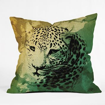 Allyson Johnson African Leopard Throw Pillow