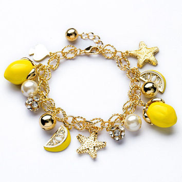 Awesome Stylish Shiny New Arrival Hot Sale Gift Great Deal Accessory Star Sea Bangle Summer Fruits Bracelet [6573073351]